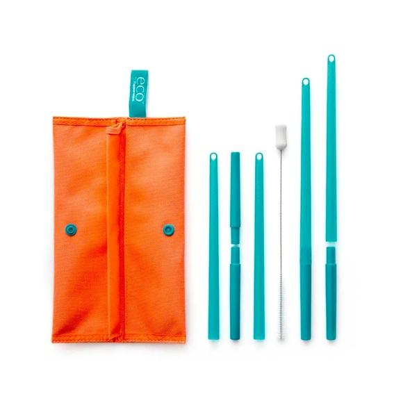 Tupperware eco straw set